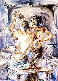 Fadime Baltacıoğlu 1994 watercolor