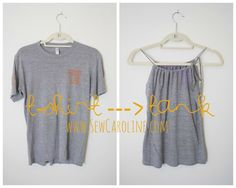 Sew Caroline: T-Shirt to Tank Tutorial Made some of these for friends easy presents