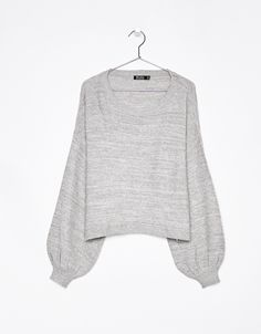 Cropped oversized sweater. Discover this and many more items in Bershka with new products every week