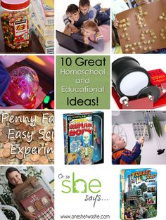 10 Great Homeschool and Educational Ideas www.oneshetwoshe.com #homeschool