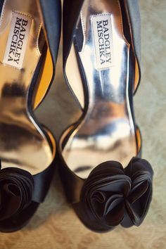 ruffled black heels