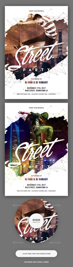 City Night Party Flyer  — PSD Template #dance music #concert • Download ➝ https://graphicriver.net/item/city-night-party-flyer/18365278?ref=pxcr