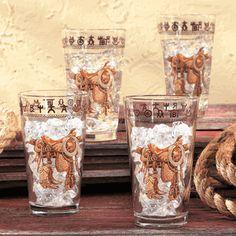Saddle Glasses - Set of 4