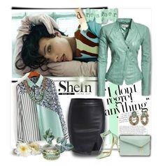 """SheIn Beautiful Blouse"" by wanda-india-acosta ❤ liked on Polyvore featuring Napier, Danier, BillyTheTree, Henri Bendel and Greenola Style"