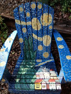 Adirondack Chair  Ode to Starry Night . & 190 best Things to Paint Starry Night On images on Pinterest ...