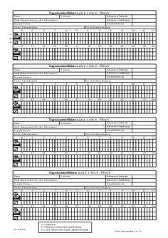 Výsledok vyhľadávania obrázkov pre dopyt tageskontrollblatt nach § 1 abs.6 fpersv