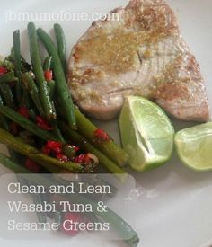 Clean and Lean Wasabi Tuna and Sesame Greens Diet Recipes, Vegetarian Recipes, Healthy Recipes, Lean Recipes, Delicious Recipes, Wasabi Recipes, Christmas Recipes For Kids, Italian Pasta Recipes, Food Journal