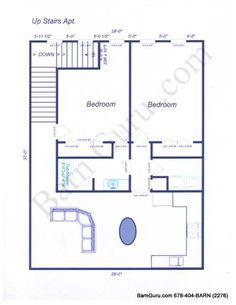Two Bedroom Barn Home - Conrad Arnold | Barnutopia - floor plan ...