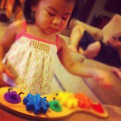 Adorable fan using our Caterpillar Gears Toy (via Instagram fan @RaeChelle)