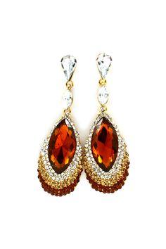 Simone Teardrop Earrings in Crystal Sunset on Emma Stine Limited