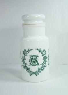 Pot en verre blanc vintage