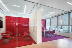 James Turrell Enlivens NYC Office Their meeting rooms contain chairs by Warren Platner or Ronan & Erwan Bouroullec.