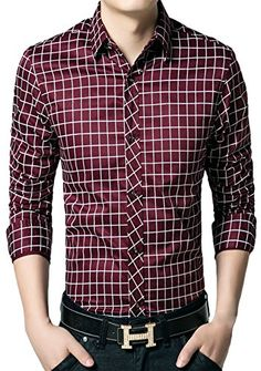 APTRO Men's Cotton Blend Business Long Sleeve Slim Casual Dress Shirt #17 Red US XS(Tag L) APTRO http://www.amazon.com/dp/B0195ZU6PY/ref=cm_sw_r_pi_dp_O4JAwb0ZERTRB