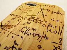 Math/Science/Physics Freak!!! Natural Bamboo Wood Hybrid iPhone 5 5s Case  Math by ZooCase, $25.50