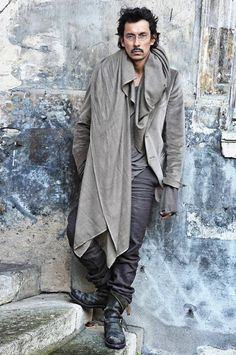 Haider Ackermann (literally). #gray #designer #charcoal #coat #fashion #Sewcratic