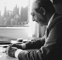Carlo Scarpa, circa 1970. Image via Selldorf Architects