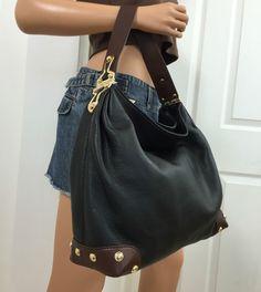 NWT Michael Kors Joplin Leather Large Shoulder Black Hobo Tote Purse Bag Handbag #MichaelKors #ShoulderBag