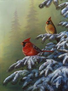 Winter Refuge: Cardinal - Jim Hansel