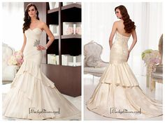 Alluring Taffeta Sweetheart Neckline Natural Waistline Mermaid Wedding Dress