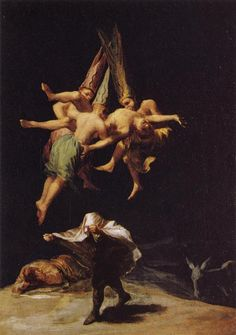 Goya, Witches in Flight, 1798