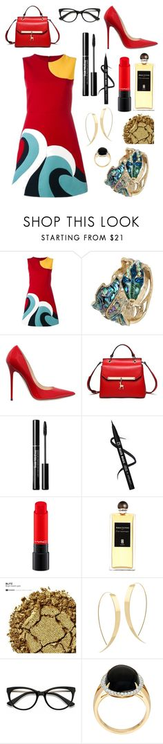 """Ocean Babe"" by annabellalovesfashion ❤ liked on Polyvore featuring RED Valentino, Betsey Johnson, Jimmy Choo, Serge Lutens, Urban Decay, Lana and EyeBuyDirect.com"