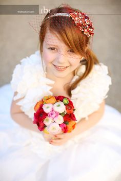 Ellie as our flower girl! Flowers by @Summer Olsen Watkins