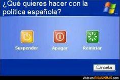 ¿Qué quieres hacer con la política española?