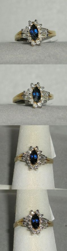 Rings 165044: Solid 14K Gold Sapphire Diamond Fashion Ring -> BUY IT NOW ONLY: $395 on eBay!