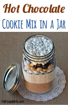 Hot Chocolate Cake Mix Cookies Recipe! ~ from TheFrugalGirls.com ~ this Cake Mix Cookie Recipe is SO easy and they're crazy delicious... just like a cup of Cocoa! Just 5 ingredients... and they make a super cute Gift in a Jar, too! #recipes #thefrugalgirls