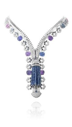Colored sapphires Zip necklace