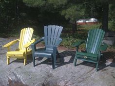 Threesome of Muskoka Chairs