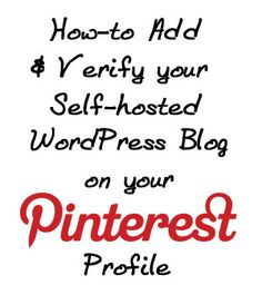 Free Download Photoshop here! How to Add and Verify Your Website on Your Pinterest Profile for Self-hosted WordPress Blogs