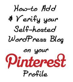 Blog/website verification for Pinterest