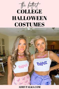 Looking for an insanely cute and hot Halloween costume? Here are 15 super cute and unique college costumes that you can DIY and look amazing at your college Halloween party! Perfect for college girls and super cute, easy, creative, hot, and sexy! Halloween Costume Teenage Girl, Matching Halloween Costumes, Easy Halloween Costumes For Women, Looks Halloween, Best Friend Halloween Costumes, Hallowen Costume, Trendy Halloween, Halloween Outfits, Halloween Office