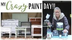 Painted Furniture ~ Before & After Furniture Makeovers ~ Painting with a...