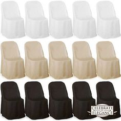 100 Polyester Folding Chair Covers Wedding Party Décor