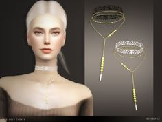Lace gold choker at heavendy-cc - the sims 4 catalog Sims 4 Game Mods, Sims 4 Mods, Sims 4 Cc Kids Clothing, Sims 4 Cc Shoes, Sims Resource, Sims 4 Update, Gold Choker, Sims 4 Custom Content, Sims Cc