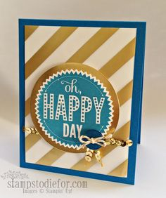 Starburst Sayings Stamp Set and quick tip video on an easy way to thread bakers twine through button holes.