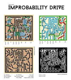 The Improbability Drive is a knob-tweaker's dream–equal parts, overdrive, fuzz, and science experiement, and gets its name from Hitchhiker'. Guitar Effects Pedals, Guitar Pedals, Diy Guitar Pedal, Circuit Diagram, Electronics Projects, Fuzz, Circuits, 7 And 7, Knob
