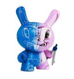 Kidrobot Dunny Series 2012 Blueprint by Sergio Mancini - New With Box in Toys & Hobbies, Action Figures, Designer & Urban Vinyl | eBay