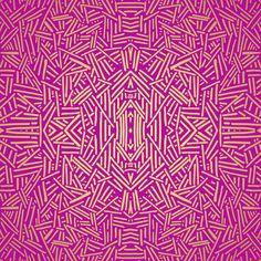 Radiate (Yellow/Ochre Raspberry) Art Print