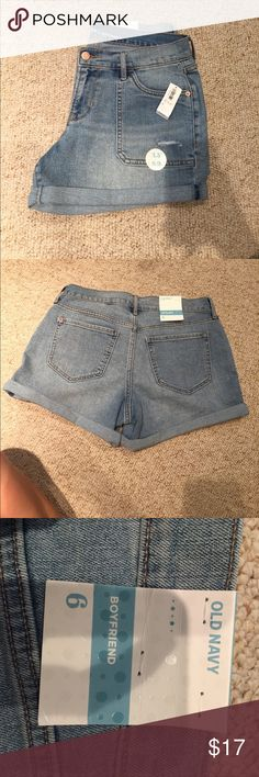 Old Navy Boyfriend Shorts Never worn. New with tag. Ask any questions! Old Navy Shorts Jean Shorts