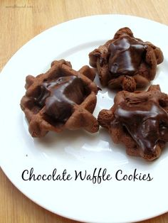 Chocolate Waffle Cookies - so easy to make and so delicious! Frost them while they're warm and they are one of my favorite cookies ever!