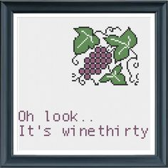 Funny Wine Cross Stitch Pattern