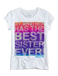 Girls Clothing | Bffs And Faves | Best Sister Ever Graphic Tee | Shop Justice