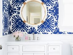 5 of the Prettiest Patterned Powder Rooms: A few very good arguments for breaking outside the minimalist mold. via @domainehome