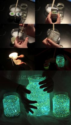 Glow jars... I so want to do these.