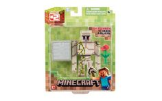 From the hit video game, Minecraft, bring home the Iron Golem action figure pack. This action figure pack features a articulated Iron Golem figure. Included is an iron block and a rose that fits in its hand. Collect all Series Minecraft Iron, Minecraft Toys, Minecraft Party, Minecraft Houses, Minecraft Blocks, Minecraft Crafts, Minecraft Stuff, Minecraft Skins, Birthday Gifts For Kids