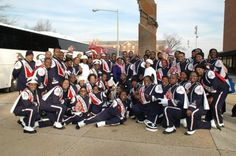 """Howard University's """"Showtime"""" Marching Band members"""
