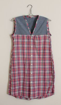 ... DIY Men's Shirt to Casual Dress diy mens shirt refashion, men shirts